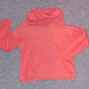 R Lauren crop cow neck sweatshirt